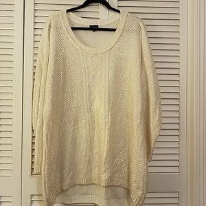 Torrid off white/gold sweater